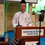 Tuan Hj. Mohamad Alwi Bin Taib sedang menyampaikan ucapan al0an