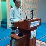 Tuan Hj. Mohamad Alwi Bin Taib (Pengerusi JK Kariah MSYRS, Ipoh) sedang menyampaikan ucapan aluan.
