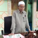 Tuan Hj. Mohd Alwi Bin Taib (Pengerusi JK Kariah MSYRS, Ipoh) sedang berucap dalam majlis perasmian.