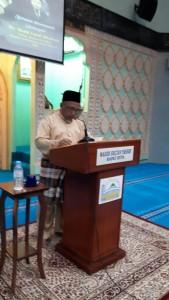 Tuan Hj. Salleh Bin Hj. Abdul Karim (Timb. Pengerusi JK. Kariah MSYRS) sedang menyampaikan ucapan.